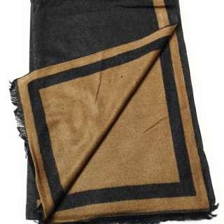 100% Cashmere Scarf unisex Reversible Bordered Shawl Wrap Stole Long Scarves