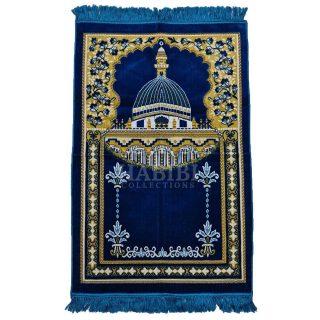Royal Blue Islamic Masjid Al Nabawi Soft Prayer Mat