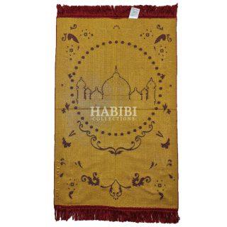 Maroon Islamic Floral Masjid Al Nabawi Prayer Mat