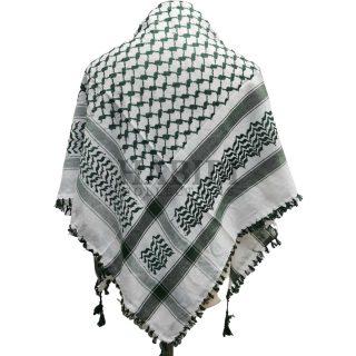 Green/White Shemagh Arab Head Scarf Wrap Arafat Keffiyeh Yashmagh