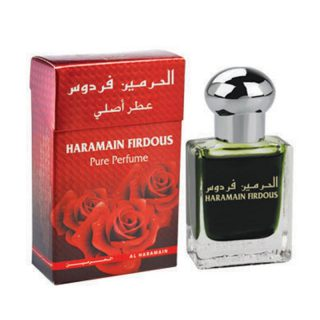 15ml Al Haramain Firdous Musk Perfume Oil Arabian Attar Itr Ittar -Top note: Animalic, Green Citrus Middle note: Green Accord, Clove, Orris Base note: Sandalwood, Musk, Moss, Lily of the Valley
