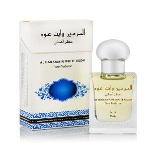15ml Al Haramain White Oudh Musk Perfume Oil Arabian Attar Itr Ittar - Top note: Artemisia, Mandarin, Lemon, Orange Middle note: Blackcurrant, Freesia, Patchouli Base note: Musk, Amber, Tobacco