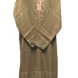 Bg1 001 Beige Mens Moroccan Long Sleeve Wide Wool Jubba Thobe.jpg6
