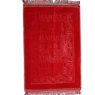 Sponge Padded Red Non-Slip Prayer Mat