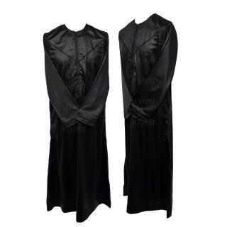 Nskemrt 001 Thobe Jubba Men's Design Emirati Dishdash High Quality Black 05 07t053159.072