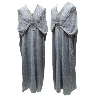 Othchq 026 D Grey Men Moroccan Short Sleeves Thobe 05 03t071211.572