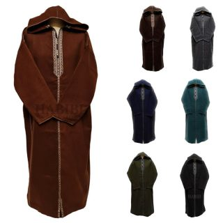 Cashwl 001 Habibicollections Mens Moroccan Cashmere Wool Thobe Jubba Hooded Long Sleeve Img1