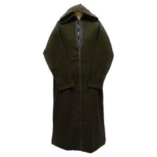 Cashwl 001 Habibicollections Mens Moroccan Cashmere Wool Thobe Jubba Hooded Long Sleeve Img6 Olive