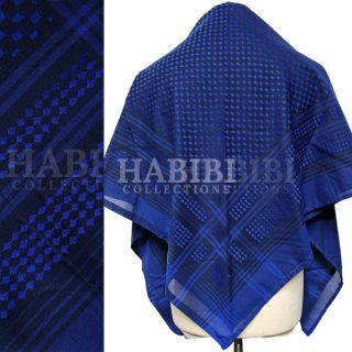 Blue Shemagh Arab Head Scarf Wrap Arafat Keffiyeh Yashmagh