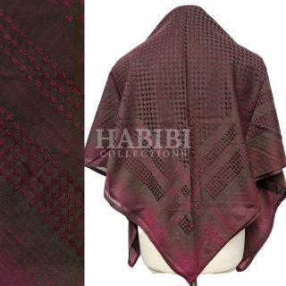 Burgundy Shemagh Arab Head Scarf Wrap Arafat Keffiyeh Yashmagh