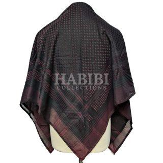 Maroon/Black Shemagh Arab Head Scarf Wrap Arafat Keffiyeh Yashmagh