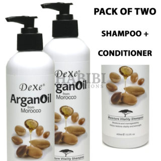 Dexe Argan Oil from Morocco Moisture Vitality Shampoo + Conditioner Set