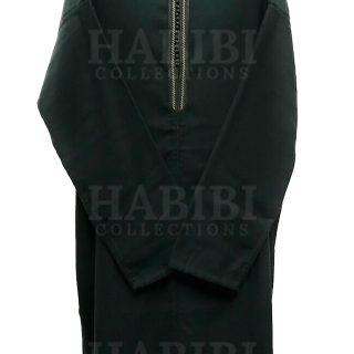 Grn 003 Green Mens Moroccan Long Sleeve Wide Wool Jubba Thobe.jpgb