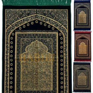 Super Soft Floral Arch Pattern Islamic Prayer Mat Jannamaz Musallah Turkish