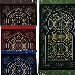 Super Soft Islamic Prayer Mat Geometric Shape Jannamaz Musallah Turkish