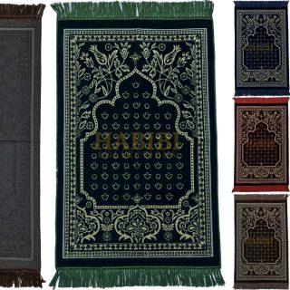 Super Soft Islamic Prayer Mat Floral Shape Jannamaz Musallah Turkish