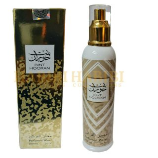3x 250ml Bint Hooran Water Air/Fabric/Clothes Freshener By Ard Al Zafaaran. A high quality, long-lasting water perfume air freshener. Each bottle is 250ml. Guaranteed to bring that Arabian feel to your home. As a result, it will brighten up your rooms with this refreshing, lovely scent. Sold in packs of three. This product is not available for international shipping.