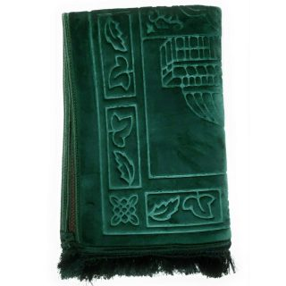 Bouncy Sponge Padded Green Non-Slip Prayer Mat - High Quality Sponge, Very Soft!