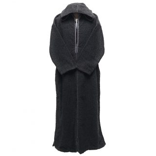 Extremely Thick Moroccan Winter Wool Hooded Thobe Black