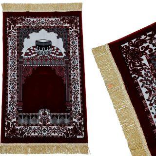 PREMIUM Islamic Kaaba Prayer Flower Mat Jannamaz Musallah