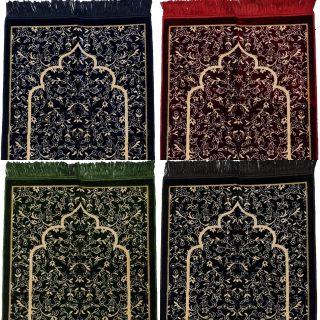 Super Soft Islamic Prayer Mat Floral Jannamaz Musallah Turkish