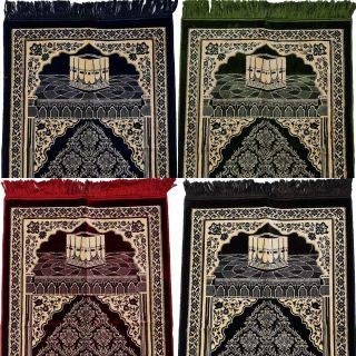 Super Soft Islamic Prayer Mat Kaba Floral Jannamaz Musallah Turkish
