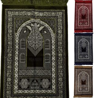 Super Soft Islamic Prayer Mat Chandelier Floral Jannamaz Musallah Turkish