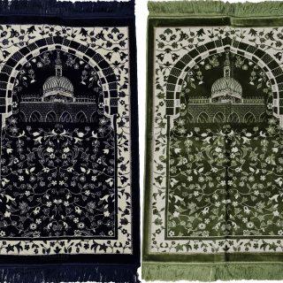 Super Soft Islamic Prayer Mat Kaba Masjid Floral Jannamaz Musallah Turkish