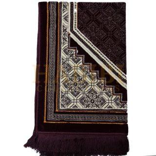 Jumbo Size Super Soft Islamic Prayer Mat Floral Jannamaz Musallah Turkish 950g
