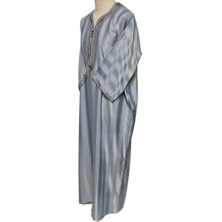 M3qs 012 Habibicollections Mens Moroccan 3 Quarter Sleeve Patterned Jubba Thobe 124502