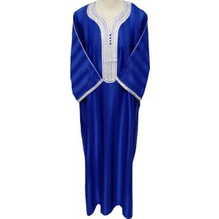 Moroccan 3-Quarter Sleeve Royal Blue Thobe