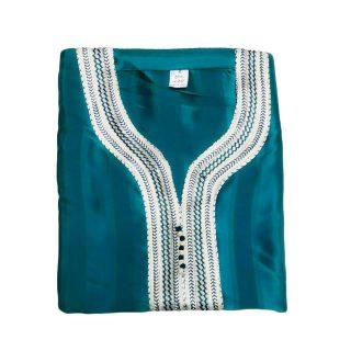 Moroccan 3/4 Sleeve Thobe Turquoise