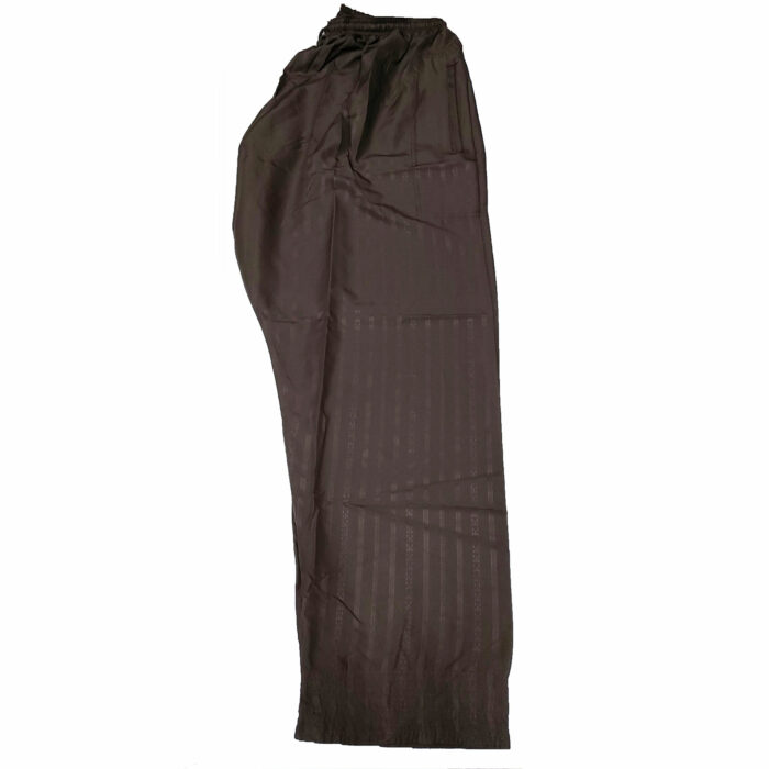 Moroccan Long Sleeve Maroon/Brown Thobe with Trousers