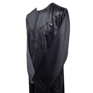 Nskemrt 002 Grey Thobe Jubba Men's Design Emirati Dishdash High Quality 0507 044440