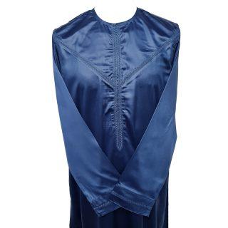 Nskemrt 003 Blue Thobe Jubba Men's Design Emirati Dishdash High Quality 0507 044644