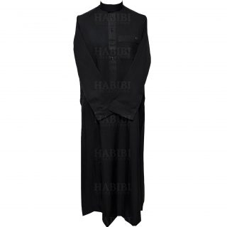 Nusuki 003 90210145420mix Nusuki Men Thick Black Thobe Long Sleeve Jubba0509 222058