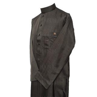 Nusuki 005 90210145420mix Nusuki Men Thick Black Charcoal Thobe Long Sleeve Jubba0509 222531