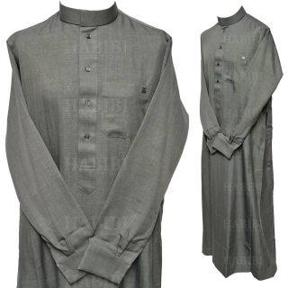 Nusuki Cuff 002 90210145222mix Nusuki Men Thick Grey Thobe Long Sleeve Cuffed Jubba0509 221827