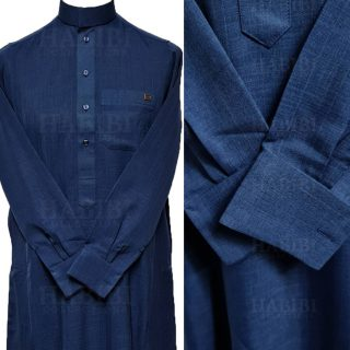Nusuki Cuff 004 90210145022mix Nusuki Men Thick Blue Thobe Long Sleeve Jubba0509 222305