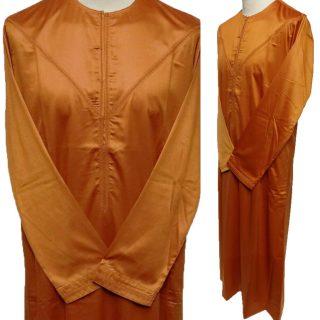 Emaratee Men's Dark Orange Long Sleeve Thobe