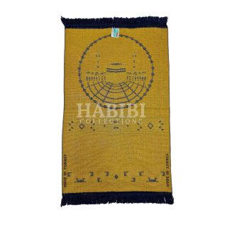 Navy Blue Islamic Masjid Al Haraam Soft Prayer Mat