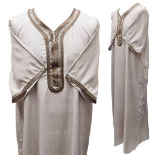 Othslv 018 Men Moroccan Short Sleeves Thobe High Quality Brand New 05 01t05493