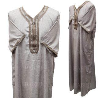 Othslv 019 Men Moroccan Short Sleeves Thobe High Quality Brand New 0