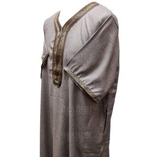 Othslv 019 Men Moroccan Short Sleeves Thobe High Quality Brand New 4