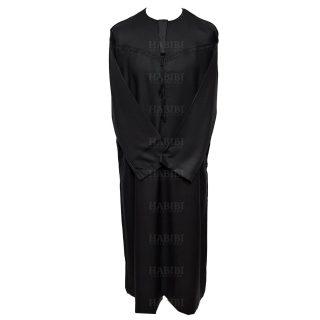 Omani Black001 Men Omani Long Sleeves Thobes0418 224445
