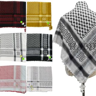 Palestine Habibi Collections Shemagh Arab Head Scarf Wrap Arafat Keffiyeh Yashmagh 21044