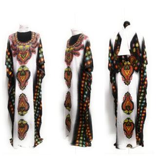 Women's Loose Fit Kaftan Tunic + Free Scarf (DN911)