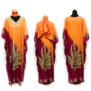 Women's Floral Leaf Quality Kaftan DN997