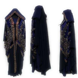 Women Dubai Velvet Open Kimono Abaya Long Maxi Jilbab Burka