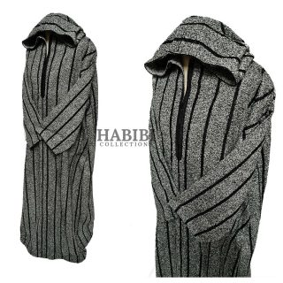 THICK SUPER WARM MEN Moroccan winter wool hooded thobe Djelleba jubba SIZE 60